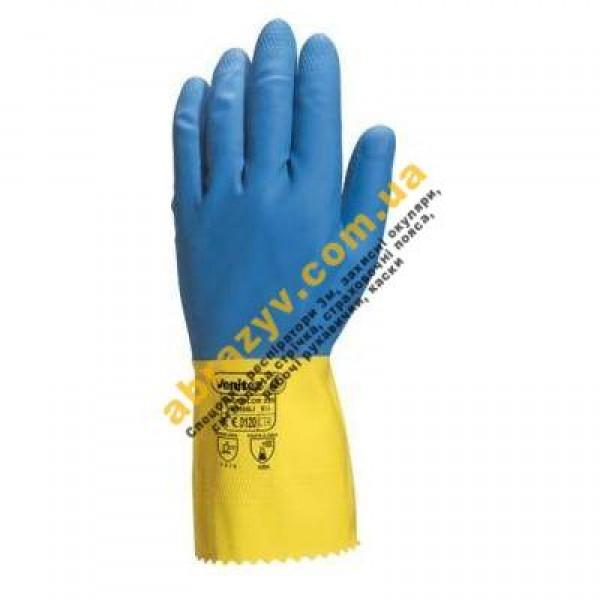 Защитные латексные перчатки Delta Plus DUOCOLOR 330