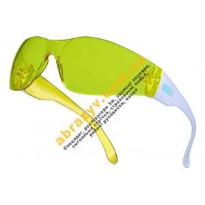 Очки защитные Delta Plus BRAVA2 YELLOW поликарбонатные, желтые