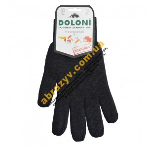 Рукавички робочі Doloni 540 х/б подвійні, чорні 2