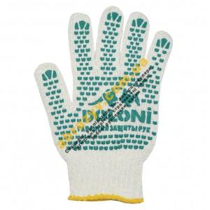 Перчатки трикотажные с ПВХ точкой Doloni 547
