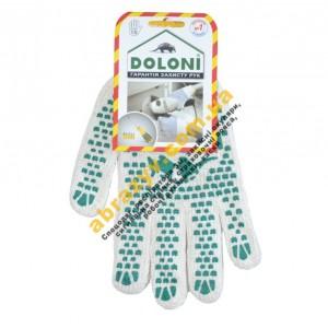 Рукавички трикотажні з ПВХ крапкою Doloni 547 2