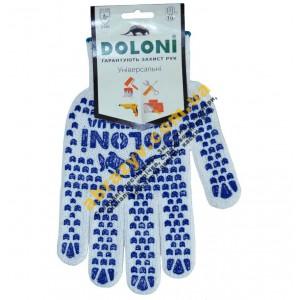 Перчатки Doloni 880 х/б с двусторонней ПВХ точкой 2