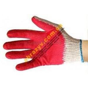 Перчатки рабочие Вампирка хб с покрытием латекс 2
