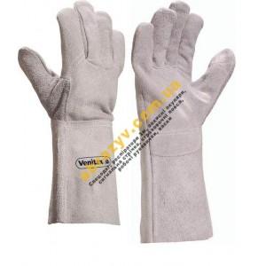 Перчатки защитные Delta Plus TC715 краги, кожаные для сварщика