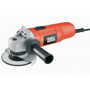 Кутова шліфмашина Black&Decker 701вт, d=125 мм, валіза + диск алмазний. KG725DD