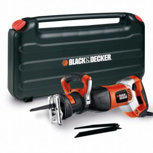 Пила сабельная Black&Decker RS1050EK, 1050 Вт чемодан