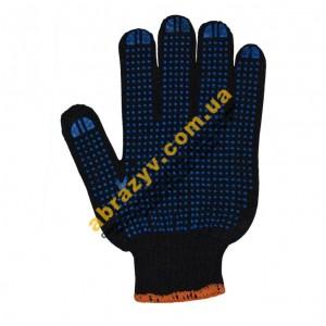 Перчатки трикотажные 8411 с ПВХ точкой