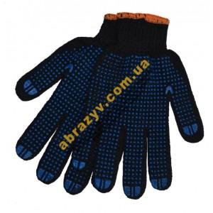 Перчатки трикотажные 8411 с ПВХ точкой 2