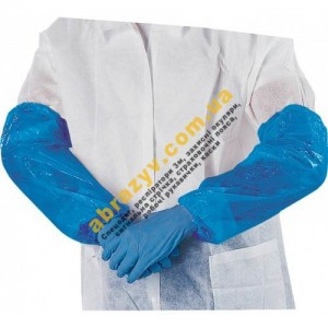 Нарукавники поліетиленові Delta Plus MANCHBE (блакитного кольору)