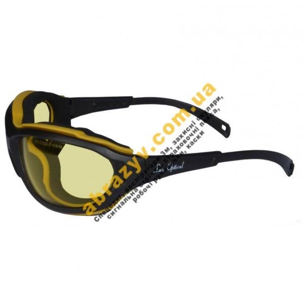 Очки защитные закрытие Iux Optical Madlux 60976 AF желтые