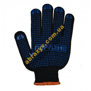 Перчатки трикотажные Абразив 84-АБ с ПВХ точкой