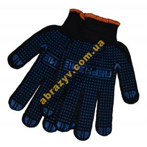 Перчатки трикотажные Абразив 84-АБ с ПВХ точкой 2