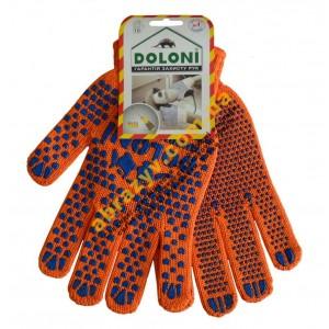 Перчатки рабочие Doloni 584 с двусторонним ПВХ 2