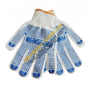 Перчатки рабочие Абразив 86-АБ с ПВХ точкой 2