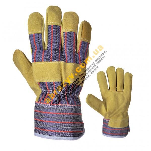 Перчатки рабочие кожаные Portwest A240