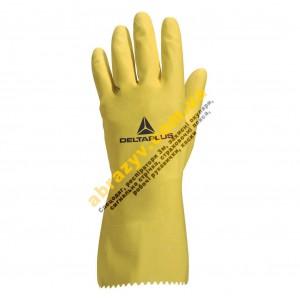 Защитные латексные перчатки Delta Plus VE200 с напылением