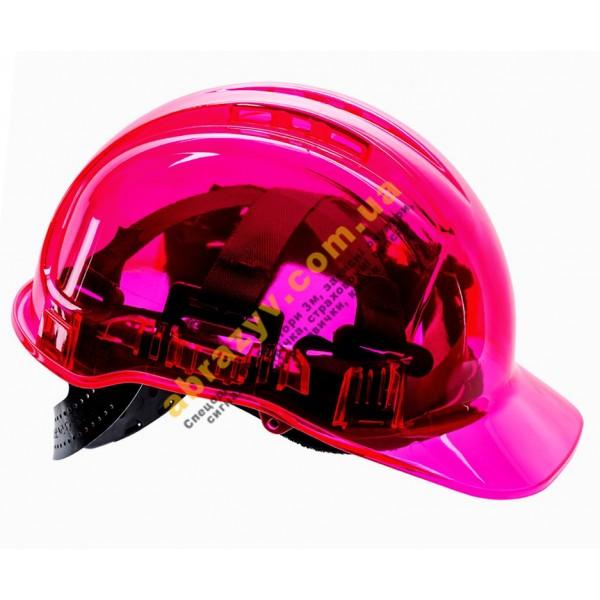 Каска защитная Portwest PV50 Peak View розовая