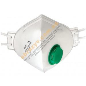 Напівмаска фільтруюча Респіратор БУК - 1К FFP1 з клапаном