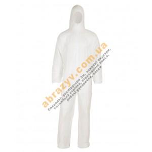 Комбинезон защитный Sizam Oversafe 4410 с капюшоном белый