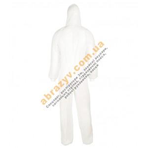 Комбинезон защитный Sizam Oversafe 4410 с капюшоном белый 2