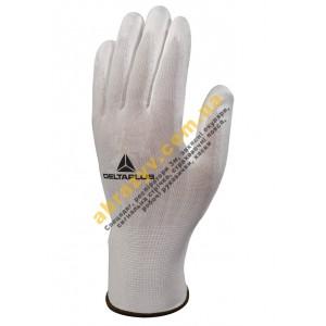 Перчатки Delta Plus VE702P, белые, полиуретановое покрытие