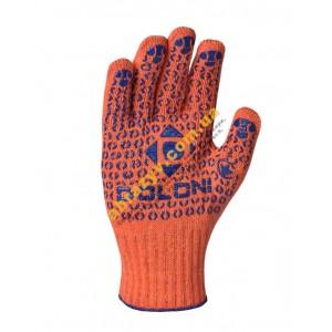Рукавиці з крапками оранжеві Долоні 526