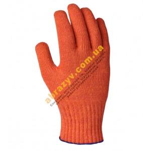 Рукавиці з крапками оранжеві Долоні 526 2