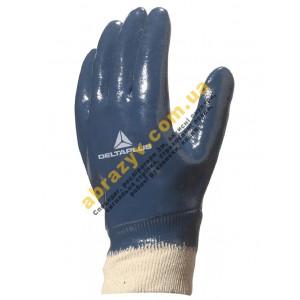 Рукавички захисні Delta Plus NI155, повне нітрилове покриття, трикотажний манжет