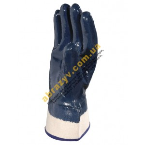 Перчатки защитные Delta Plus NI175, нитриловое покрытие с крагами 2