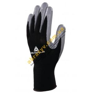 Рукавички Delta Plus VE712GR, сіре нітрилове покриття