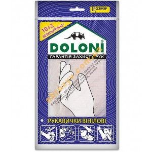 Рукавички одноразові вінілові Doloni 4558