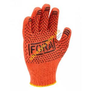 Защитные перчатки DOLONI ПВХ с точкой FORA 15300
