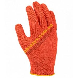 Защитные перчатки DOLONI ПВХ с точкой FORA 15300 2