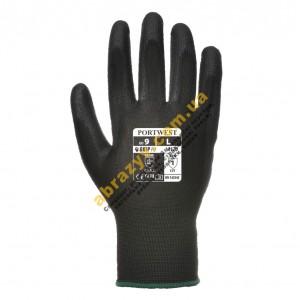 Перчатки с полиуретановым покрытием Portwest A120 черные