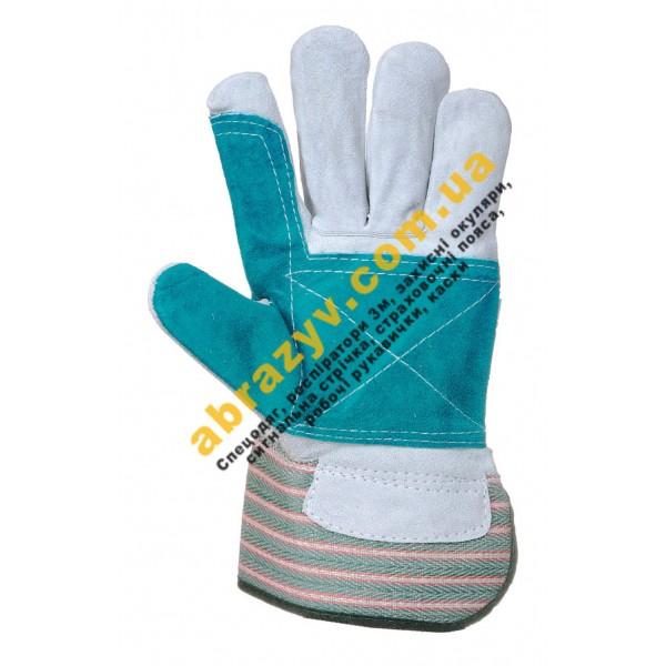 Кожаные рабочие перчатки Portwest Double Palm Rigger A230