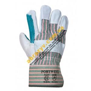 Кожаные рабочие перчатки Portwest Double Palm Rigger A230 2