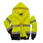 Зимняя сигнальная куртка бомбер Portwest C465 3в1