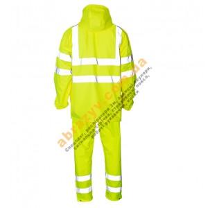 Влагозащитный сигнальный костюм от дождя Sizam Glasgow желтый 2