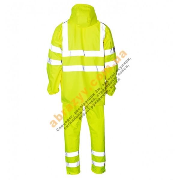 Влагозащитный сигнальный костюм от дождя Sizam Glasgow желтый