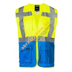 Жилет сигнальний світловідбиваючий Sizam Coventry жовтий-синій