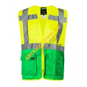 Жилет сигнальний світловідбиваючий Sizam Coventry жовтий-зелений