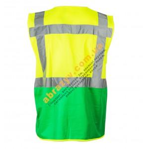 Жилет сигнальный светоотражающий Sizam Coventry желтый-зеленый 2