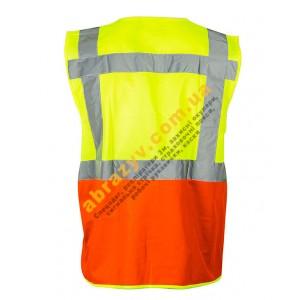 Жилет сигнальный светоотражающий Sizam Coventry желтый-оранжевый 2