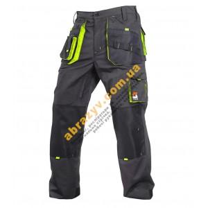 Робочі штани SteelUZ сірий-салатовий