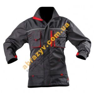 Куртка рабоча SteelUZ сірий-червоний