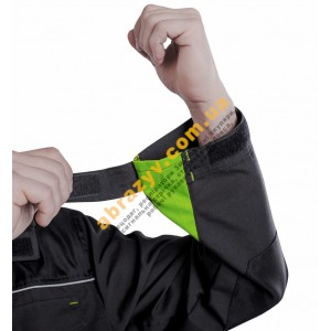 Куртка рабоча SteelUZ сірий-салатовий 2