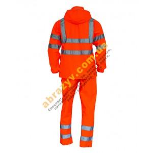Вологозахисний сигнальний костюм від дощу Sizam Glasgow 2