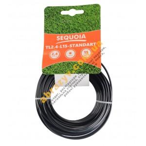 Леска косильная Sequoia TL2.4-L15-Standart