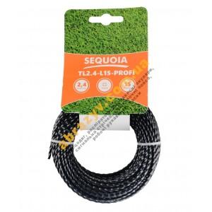 Леска косильная Sequoia TL2.4-L15-Profi